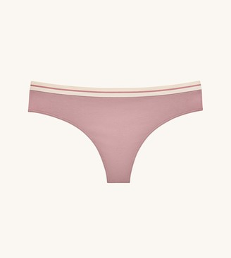 ThirdLove Everyday Cotton Stripe Elastic Thong