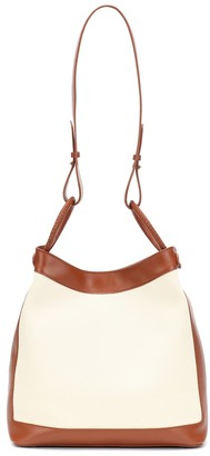 Elleme Vosges leather and canvas shoulder bag