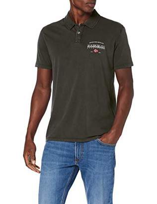 Napapijri Men's Eils Ss Polo Shirt, (Clematis Blue VB1), Large