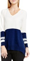 Vince Camuto Women's Colorblock V-Neck Asymmetrical Sweater