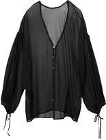 Isabel Benenato V-neck blouse - women - Silk - 40