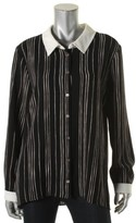 Vince Camuto Womens High-Low Striped Blouse