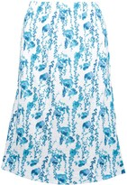 Fresh Produce Women's Casual Skirts cascading - Blue & White Cascading Floral Midi Skirt - Women