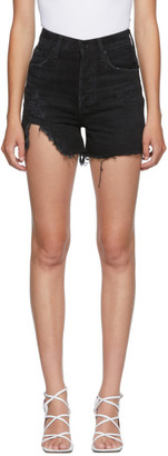 AGOLDE Black Dee Ultra High Rise Shorts