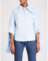 Marques Almeida Double-sleeve cotton-poplin shirt