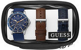 GUESS Stainless Steel Chronograph and Interchangeable Straps Set, U0742G1