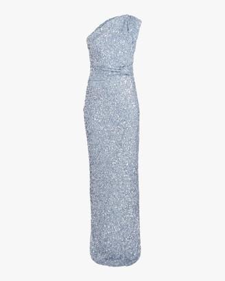 Rachel Gilbert Reed One-Shoulder Gown