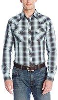 Wrangler Men's Fashion Snap Long Sleeve Woven Shirt
