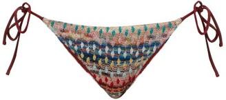 Missoni Mare Patterned Knitted-mesh Bikini Briefs - Multi