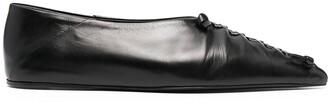 Jil Sander Lace-Up Detail Ballerina Shoes