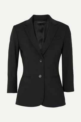 The Row Schoolboy Stretch Wool-blend Crepe Blazer - Black