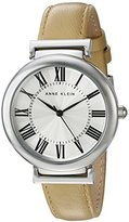 Anne Klein Women's AK/2137SVTN Beige Leather Casual Watch