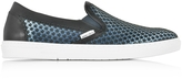 Jimmy Choo Grove Avion Satin Men's Slip on Sneakers w/Mini Rubber Star