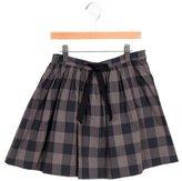Jacadi Girls' Bow-Embellished Gingham Skirt