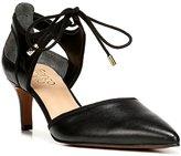 Franco Sarto Darlis Leather Ankle Tie Pumps