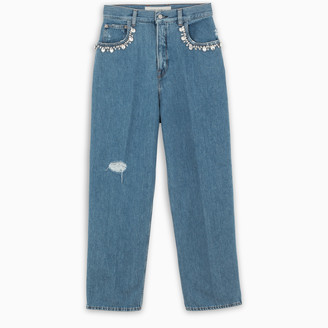 Golden Goose Blue jeans with crystals