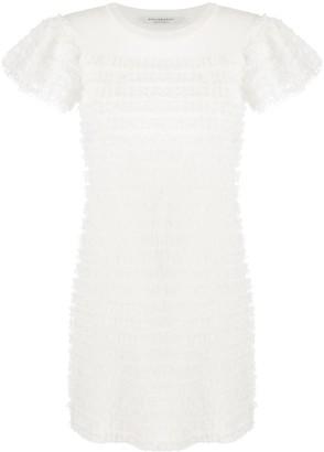 Philosophy di Lorenzo Serafini Lace-Trim Crew Neck Dress
