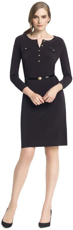 Anne Klein Utility Belted Henley Dress
