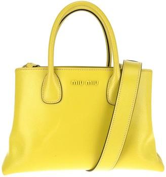 Miu Miu Logo Top Handle Tote Bag