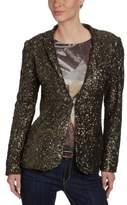 Gestuz Women's Reverse Collar Long - regular Jacket - -