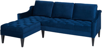 Jennifer Taylor Jenifer Taylor Emily Velvet Sectional Sofa