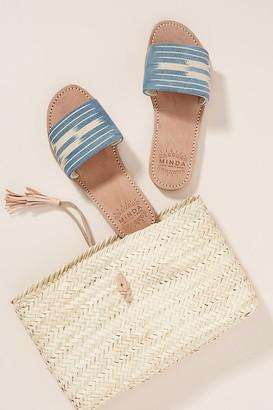 Minda Slide Sandals By Minda in Blue Size 36