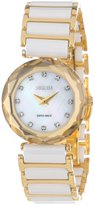 Jowissa Women's J1.009.S Safira 99 Gold Colored Bezel Rhinestone Ceramic Slim Watch