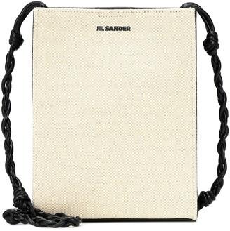 Jil Sander Tangle Small canvas shoulder bag