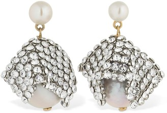 Magda Butrym Hepatica Crystal & Pearl Drop Earrings