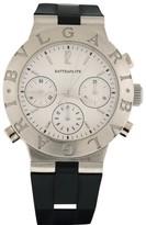 Bulgari Diagono CH40 PL Platinum Silicone/Rubber Rattrapante Chronograph Automatic 40mm Mens Watch