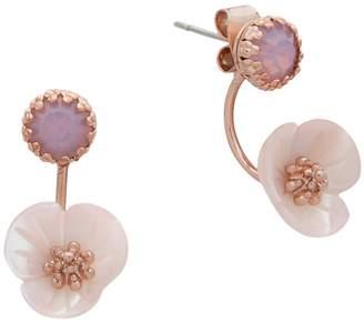 lonna & lilly Flower Crystal Earrings
