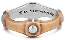 David Yurman Men's 8mm Sterling Silver & Bronze Band Ring