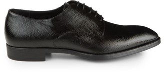 Giorgio Armani Brushed Texture Leather Loafers