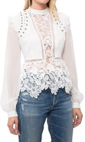 Self-Portrait Lace Detail Top