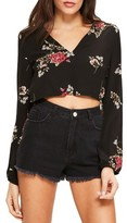 Missguided Women's Floral Print Crop Top