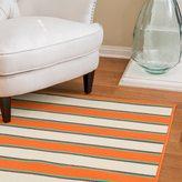 Christopher Knight Home Roxanne Dora Indoor/Outdoor Orange Stripe Rug (5' x 8')