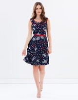 Review Cherry Floral Dress