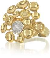 Orlando Orlandini 18K Yellow Gold Bouquet Ring w/Diamond