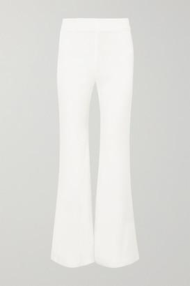Galvan Satin Flared Pants - White