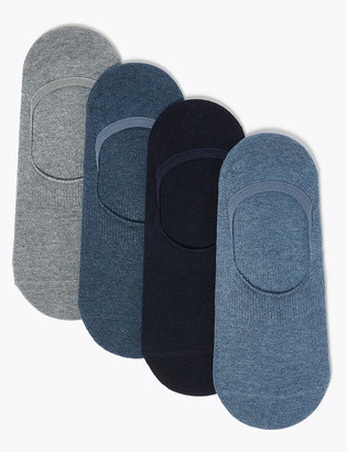 Marks and Spencer 4 Pack Cool & Fresh Invisible Socks