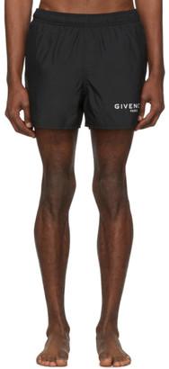 Givenchy Black Paris Swim Shorts