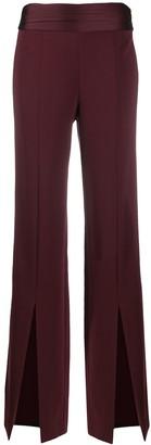 Jonathan Simkhai Front Slit Flared Trousers
