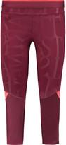 adidas by Stella McCartney Run 3/4 printed stretch-jersey leggings