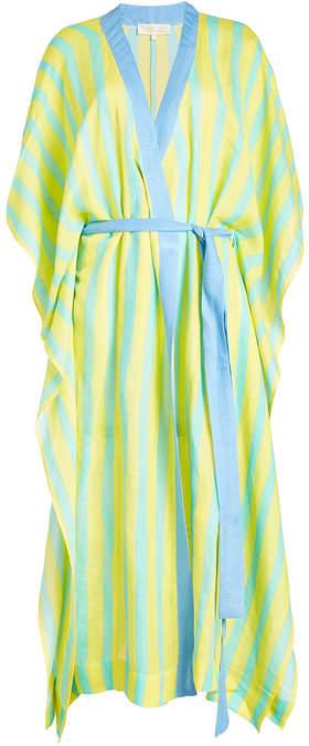 Diane von Furstenberg Tie-Front Tunic with Linen