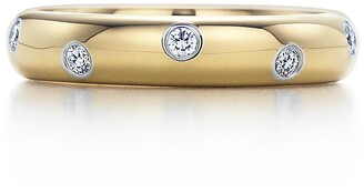 Tiffany & Co. Etoile band ring in 18k gold with diamonds in platinum, 4 mm
