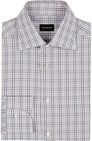 Ermenegildo Zegna Men's Rossini Checked Shirt-BURGUNDY