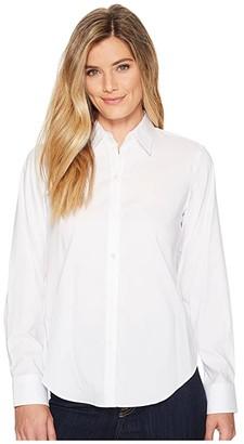 Lauren Ralph Lauren Cotton Poplin Shirt (White) Women's T Shirt