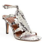 Donald J Pliner Women's TENASP - Python Print Leather Gladiator Heeled Sandal