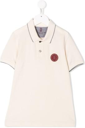 BRUNELLO CUCINELLI KIDS Logo Patch Polo Shirt