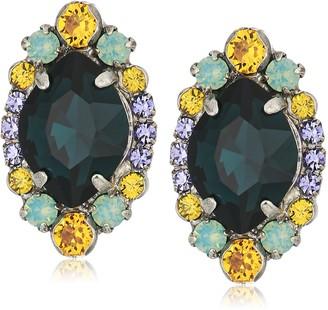 Sorrelli Womens Moonlit Shores Clustered Navette Stud Earrings